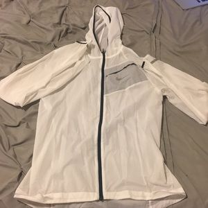 White Nike thin jacket